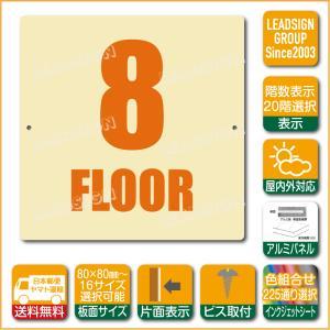 階数表示板 当階階段 階数 表示 アルミパネル サイン プレート 印刷付 a1 デザイン ビス穴有り 安全標識 看板 DIY 建築 建設|apartment-doorplate