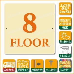 階数表示板 当階階段 階数 表示 アルミパネル サイン プレート 印刷付 b1 デザイン ビス穴有り 安全標識 看板 DIY 建築 建設|apartment-doorplate