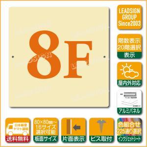 階数表示板 当階階段 階数 表示 アルミパネル サイン プレート 印刷付 b2 デザイン ビス穴有り 安全標識 看板 DIY 建築 建設|apartment-doorplate