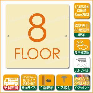 階数表示板 当階階段 階数 表示 アルミパネル サイン プレート 印刷付 c1 デザイン ビス穴有り 安全標識 看板 DIY 建築 建設|apartment-doorplate