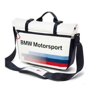 BMW純正 MOTORSPORT COLLECTION メッセンジャー・バッグ(ホワイト/ チーム・ブルー) apdirect