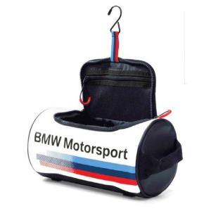 BMW純正 MOTORSPORT COLLECTION ウォッシュ・バッグ(ホワイト/ チーム・ブルー) apdirect