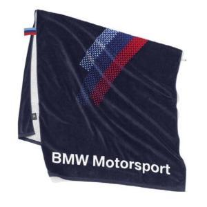 BMW純正 MOTORSPORT COLLECTION タオル(チーム・ブルー)(約160x80cm) apdirect