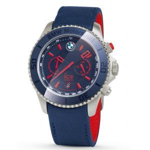 BMW純正 MOTORSPORT ICE WATCH クロノグラフBig STEEL(レッド&チーム・ブルー) apdirect
