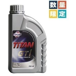 FUCHS (フックス) TITAN GT1 SAE 5W-40 XTL (エンジンオイル) 1L 4本セット(マグカップ2個+フックストートバッグ付き)初音ミク/レーシングミク 2018|apdirect