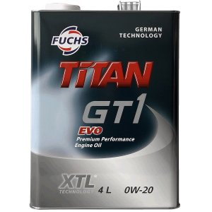 FUCHS (フックス) TITAN GT1 EVO 0W-20 XTL (エンジンオイル) 4L 1本(スチール缶)|apdirect
