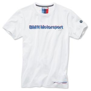 BMW純正 MOTORSPORT COLLECTION ファン・Tシャツ (メンズ)(ホワイト)(サイズ:S/M/L/XL/XXL) apdirect