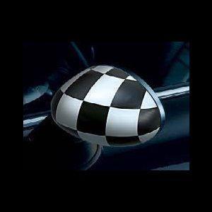 MINI ミラー・カバー  CHEQUERED FLAG(チェッカーフラッグ)(R50/R53/R52)