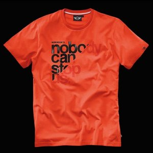 MINI Unstoppable T シャツ(メンズ)オレンジ(サイズ:S/M/L/XL/XXL)