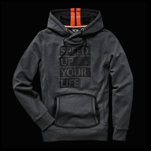MINI YOURS. フード・ジャケット(メンズ)ミックス・ダーク・グレー(サイズ:S/M/L/XL/XXL)