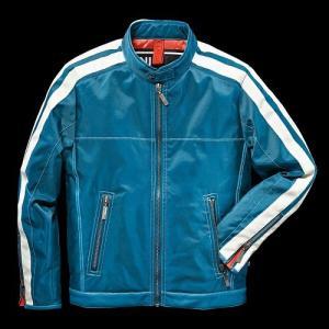 MINI レーシング・ジャケット (メンズ) ブルー・サファイア(サイズ:S/M/L/XL/XXL)