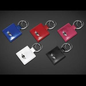 MINI レザー・キー・ホルダー・スクエア全5色(ブラック/レッド/ホワイト/ベリー/ブルー)