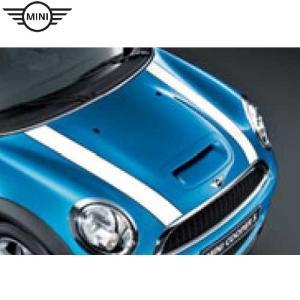 MINI エンジンフード・ストライプ(ホワイト)MINI COOPER(R55/R56/R57)〜2010.8,MINI ONE(R56)〜2010.8