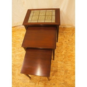 ネストテーブル タイルテーブル ヴィンテージ北欧家具 デンマーク |apetera