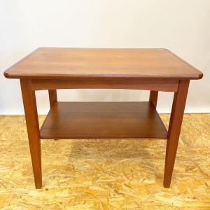 テーブル サイドテーブル コーヒーテーブル チーク ヴィンテージ 北欧家具|apetera