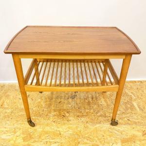 ワゴン チーク ヴィンテージ 北欧家具 サイドテーブル|apetera