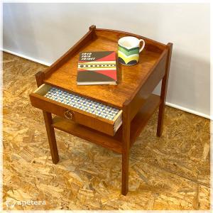 ナイトチェスト / サイドテーブル / コーヒーテーブル / 引き出し付き / 棚付き / ヴィンテージ / 北欧家具 / チーク / デンマーク|apetera