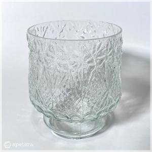 キャンドルポット/ガラス/エンボス/スウェーデン|apetera