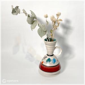 フラワーベース/ハンドペイント/60年代/ミッドセンチュリー/U-keramik/ドイツ apetera