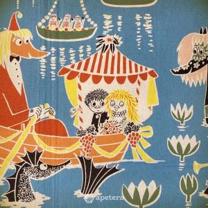 ヴィンテージファブリック/ムーミン Moomin/Who Will Comfort Toffle?/Finlayson/フィンランド|apetera