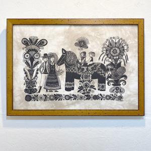 アートフレーム / Dalahest / ダーラナとSWEDENファミリー / Heidi Lange / Sweden apetera