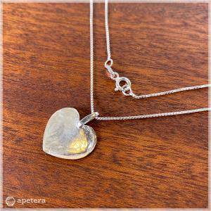 ネックレス / Leaf Heart / シルバー925 / Sirokoru / Finland apetera