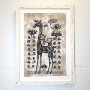アートフレーム / children with girafe / Heidi Lange / Sweden apetera