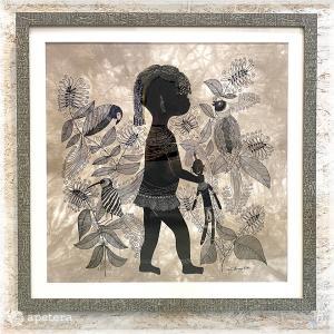 アートフレーム / Children with birds / Heidi Lange / Sweden apetera
