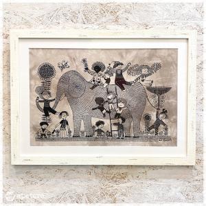 アートフレーム / Children with Elephant  / Heidi Lange / Sweden apetera