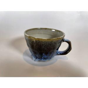 三輪田窯 X アペテラ コラボ / 鎬手切立マグカップ / ディープブルー/ 陶器 / 限定 / 石巻|apetera