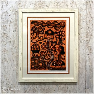 アートフレーム / THE VISIT(Ser.No.18/35) / リノカット /額装付き / Hilke Maclntyre / Scotland|apetera