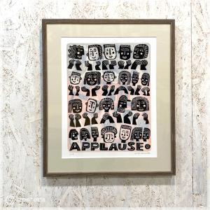 アートフレーム / APPLAUSE(Ser.No.11/15) / リノカット /額装付き / Hilke Maclntyre / Scotland|apetera