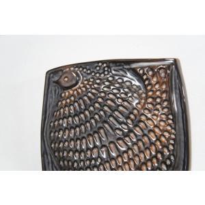 鳥の陶板 ヴィンテージ陶板 スウェーデン ガブリエル Gabriel apetera