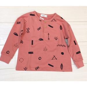 BOBO風 ボタンシンボルTシャツ|apilan