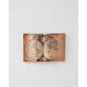 本を広げた形がとてもユニークなウォールアート(地図) 壁飾り インテリア ブック オブジェ おしゃれ...