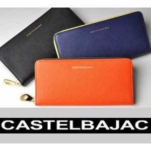 カラーコンビネーションが特徴的なラウンドファスナー長財布。 ブランドロゴがさりげないアクセント。 内...