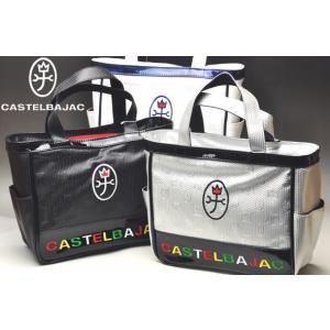 カステルバジャック2019春夏のキャディバッグと同じデザインのラウンドバッグ。 光沢の美しい合皮素材...