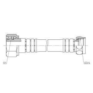 TOTOネオレストXタイプ用 オプション給水ホース1000mmD24016-3ZS aplus-store
