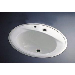 TOTOフレーム式洗面器水栓取付穴タイプ'Dタイプ'L525CMRUフレームは別売・洗面器のみの販売になります aplus-store