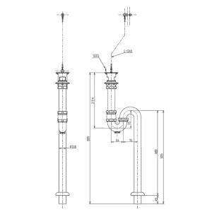 TOTO マルチシンク(SK510D.SK510)用排水金具メンテナンス口付排水金具床排水(Sトラップ)TK40SC1 aplus-store