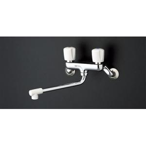 TOTO 壁付 2ハンドル混合水栓(断熱キャップ付)  TKJ20BAU aplus-store