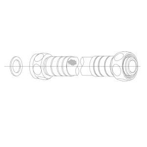 TOTOネオレストDタイプ用 オプション給水ホース550mmTN111L551 aplus-store