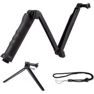 【カメラ専門会社APLUSが開発した進化版3Way自撮り棒】GoPro だけでなく、スマホ、デジカメ...