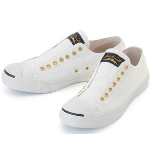 CONVERSE JACK PURCELL TARTANLABEL SLIP 1CK859 ジャックパーセル タータンラベル スリップ ホワイト スリッポン レディース スニーカー|aply-shoes
