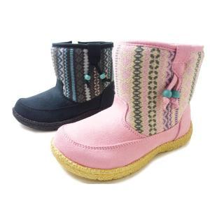 OSHKOSH オシュコシュ ブーツ OSK C357 ピンク ベビーブーツ 防寒 ウインターシューズ|aply-shoes