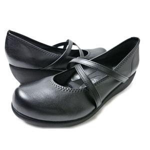 Re:getA リゲッタ R-35 ブラック ウェッジパンプス 3E EEE R35 レディース パンプス レディースシューズ 美脚 婦人靴|aply-shoes