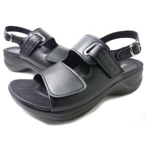 Re:getA Work RW-0001 リゲッタワーク サンダルブラック オフィスサンダル 幅広3E(EEE) 婦人靴