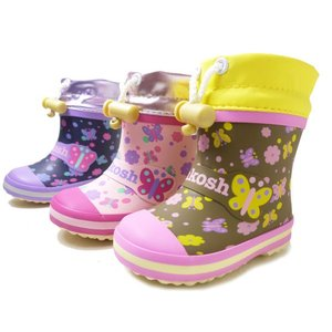 オシュコシュ ラバーブーツ OSHKOSH OSK WB145R 女の子 冬用 レインブーツ スノーブーツ 子供用長靴 子供靴 ベビー用長靴 防水|aply-shoes