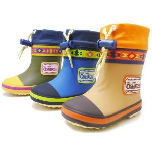 オシュコシュ ラバーブーツ OSHKOSH OSK WB154R  ブラウン ブルー カーキ 男の子 冬用 レインブーツ スノーブーツ 子供用長靴 子供靴 ベビー用長靴 防水|aply-shoes