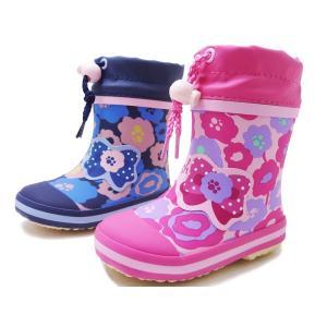オシュコシュ ラバーブーツ OSHKOSH OSK WB155R  ピンク ネイビー 女の子 冬用 レインブーツ スノーブーツ 子供用長靴 子供靴 ベビー用長靴 防水|aply-shoes